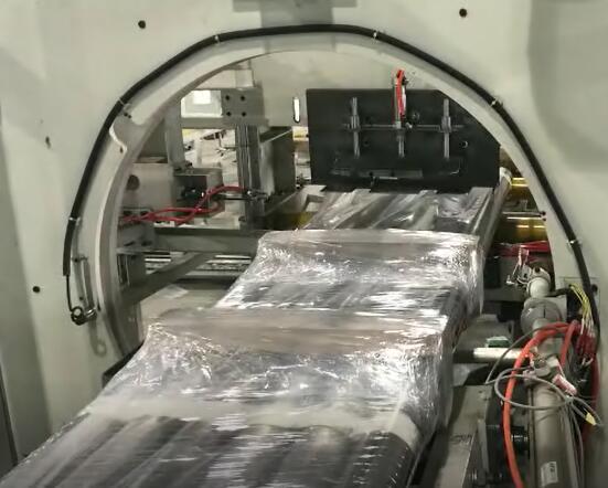 orbital stretch wrapper for aluminum